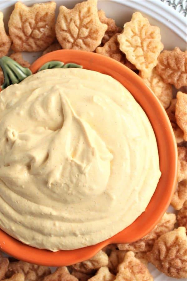 Pumpkin Cream Cheese Marshmallow Dip With Pie Crust Chips