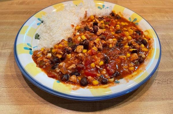 Gluten-Free Stovetop Chicken Chili (Not White)