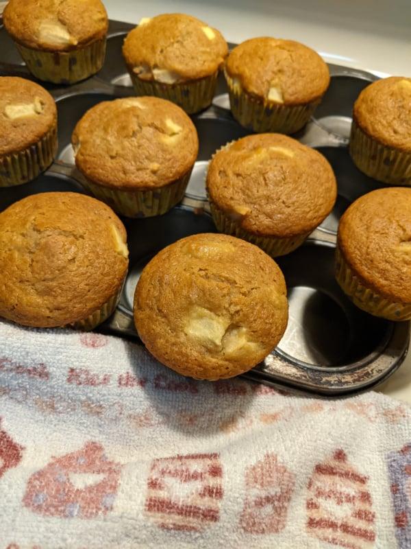 Gluten-Free Double Apple Muffins.