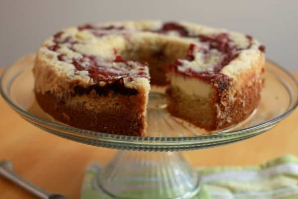 Scrumptious Raspberry Cake. Raspberry cream cheese coffee cake.