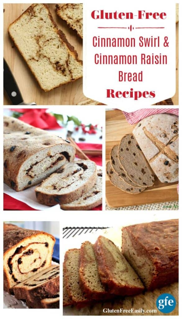 20 Comforting Gluten-Free Cinnamon Raisin Bread Recipes and Cinnamon Swirl Bread Recipes