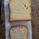 Homemade gluten-free bread made in the bread machine compared to the popular store-bought brand. [featured on GlutenFreeEasily.com]